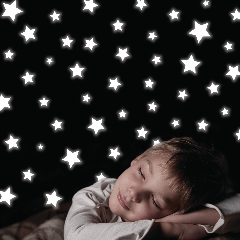 White Stars Self Adhesive Foam Glow