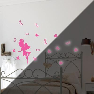 Crearreda 79226 - Fairy Glow Self Adhesive Wall Sticker Glow