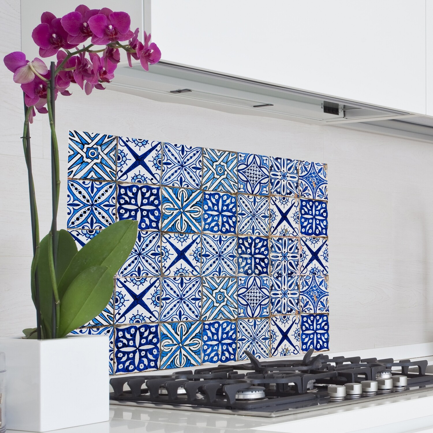 Blue Azulejos Self Adhesive Kitchen Panel