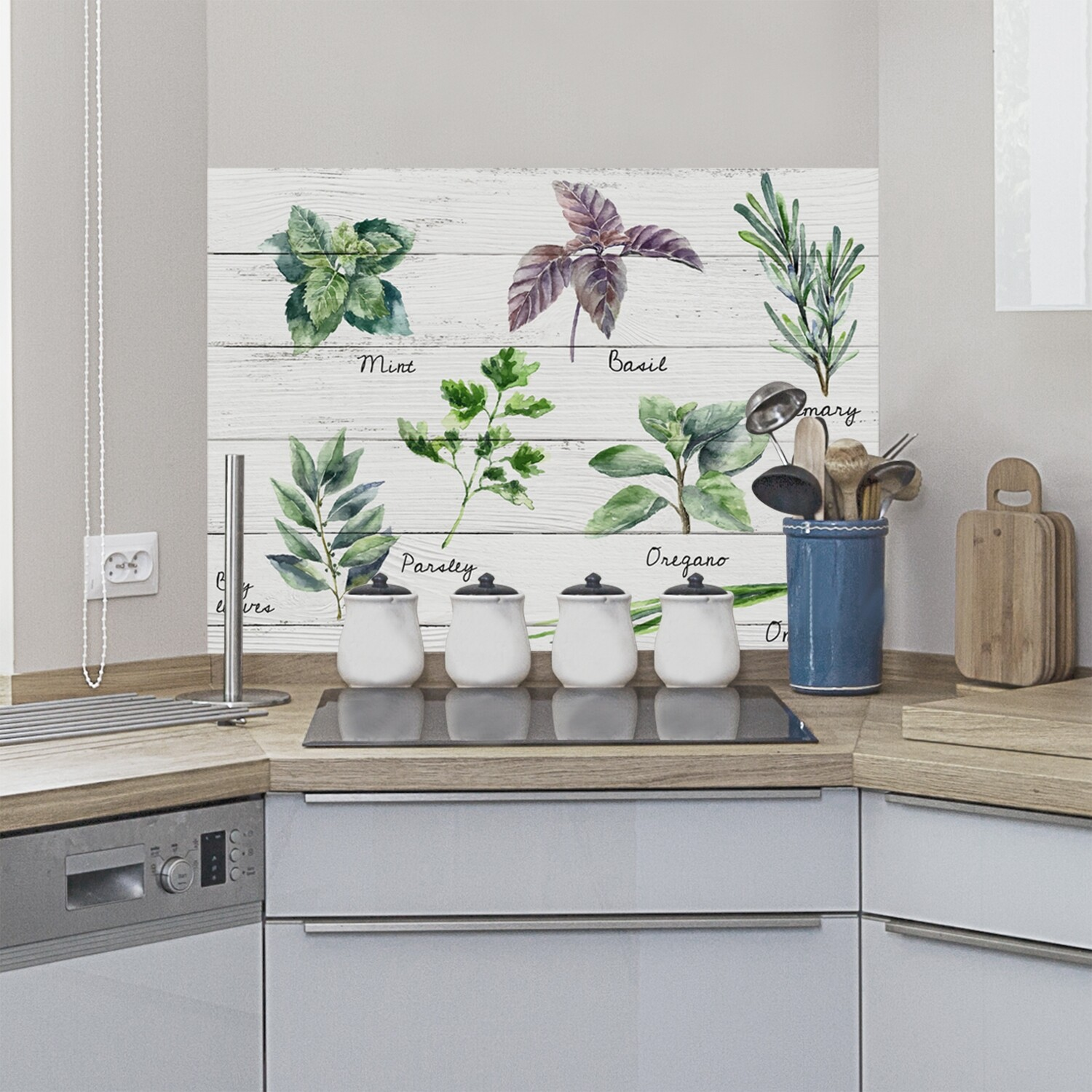 Shabby Spices Self Adhesive Kitchen Panel