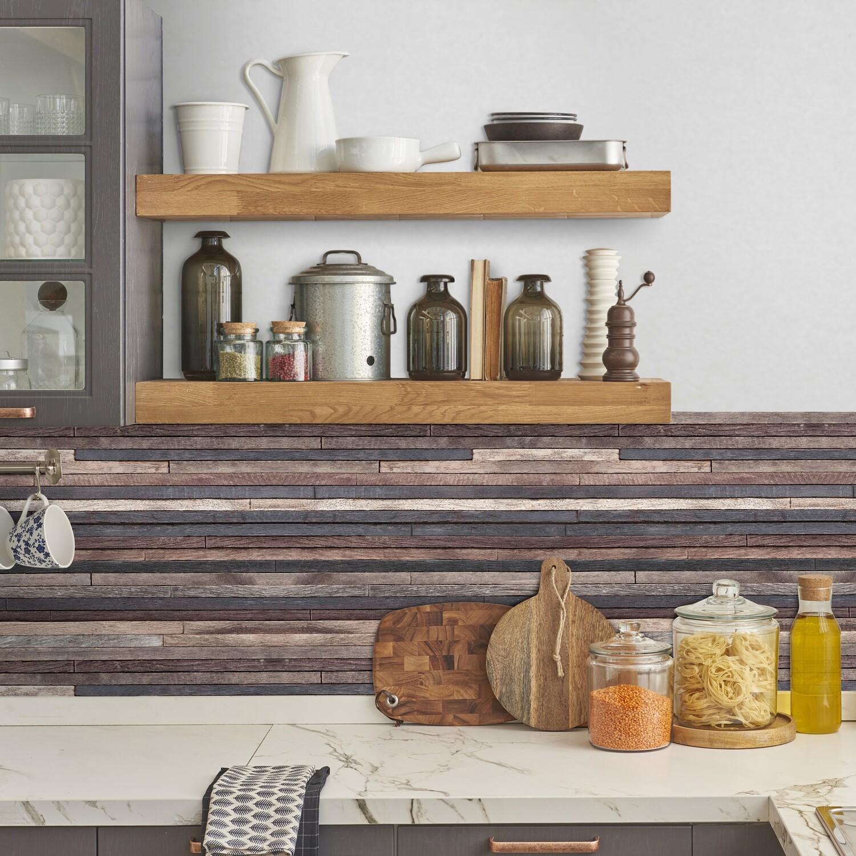 Crearreda 67315 - Wood Stripes Self Adhesive Backsplash
