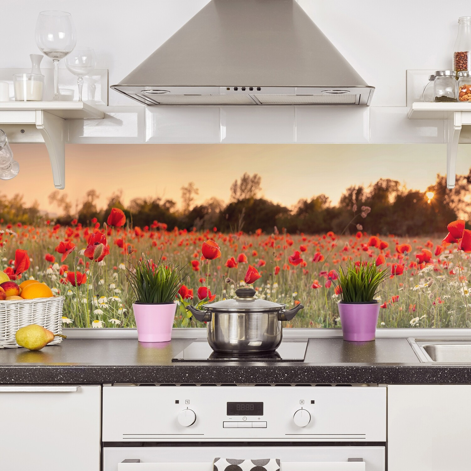 Poppies Self Adhesive Backsplash