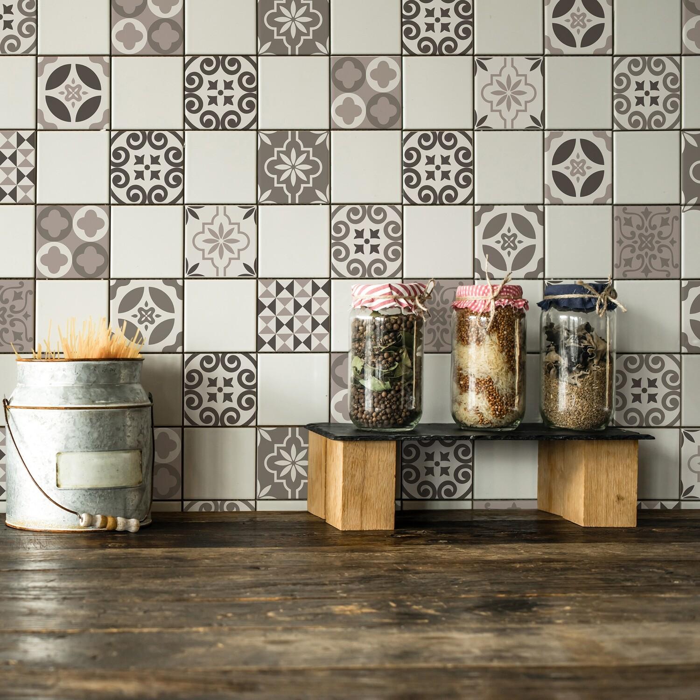Crearreda 31219-Brown Self Adhesive Tile Cover