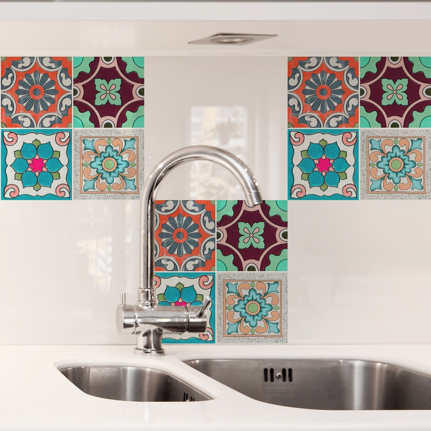 Sicily Self Adhesive Tile Cover
