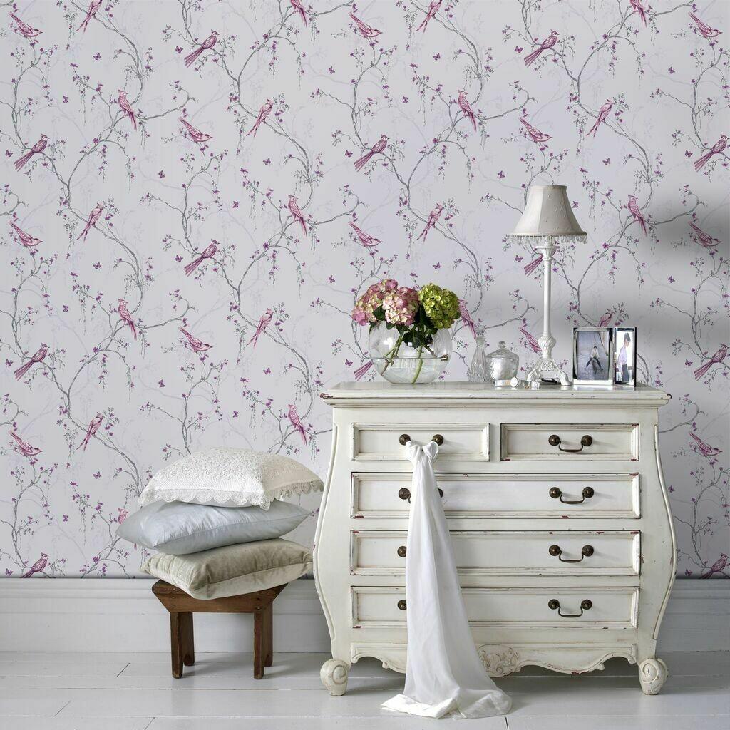 Songbird Lilac Wallpaper
