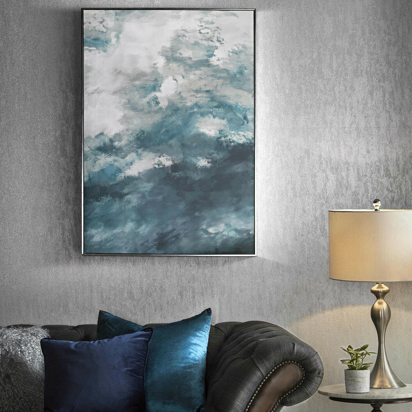 Molten Silver Wallpaper