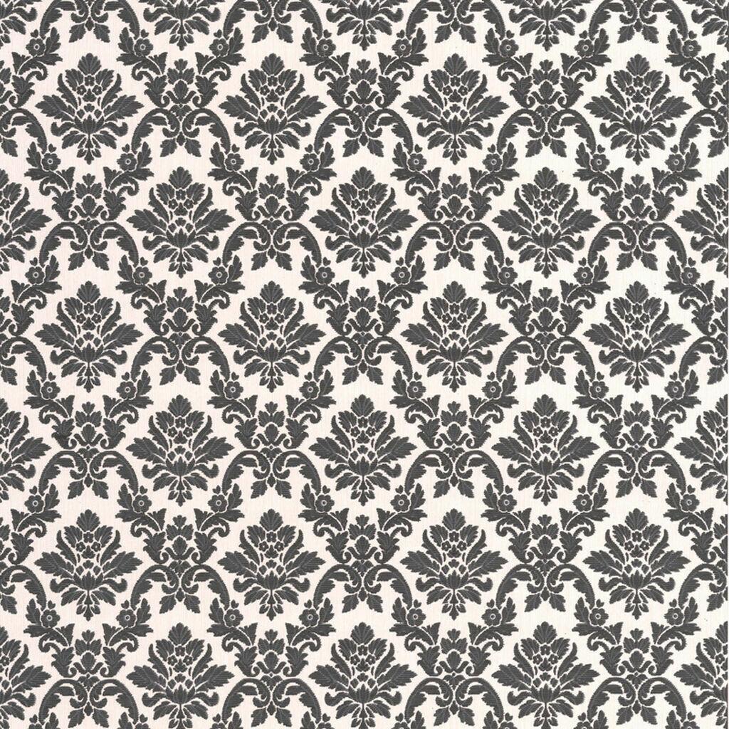 Damask Black And White Wallpaper
