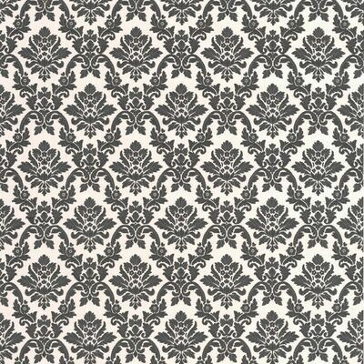 Damask Black And White Wallpaper