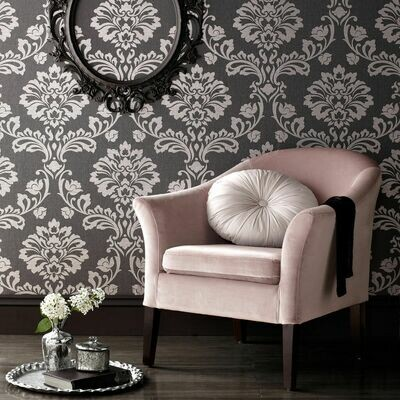 Aurora Black And Grey Wallpaper