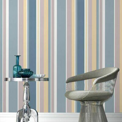Rico Stripe Teal Wallpaper