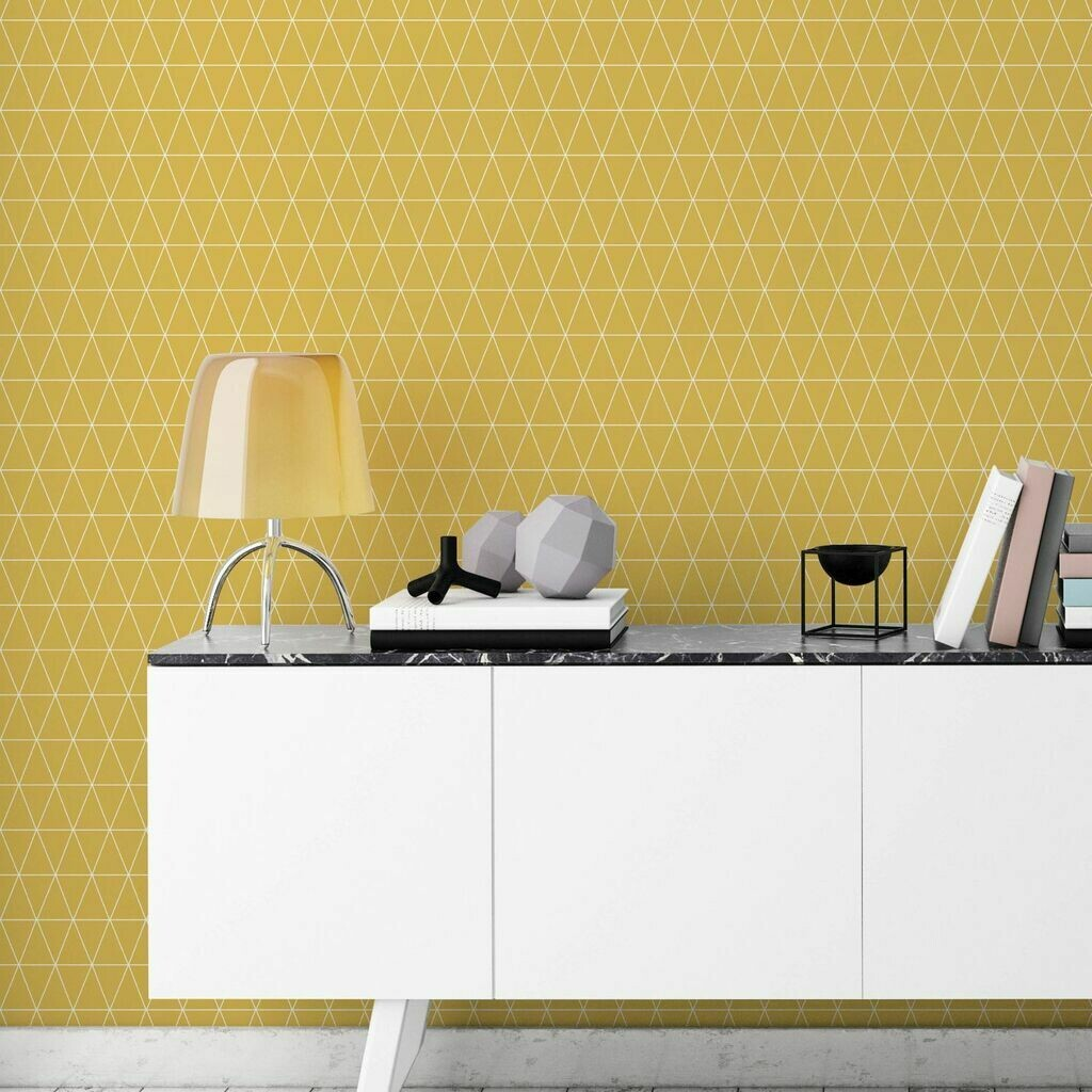 Triangolin Mustard Wallpaper