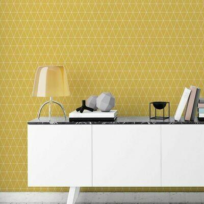Triangolin Mustard Wallpaper