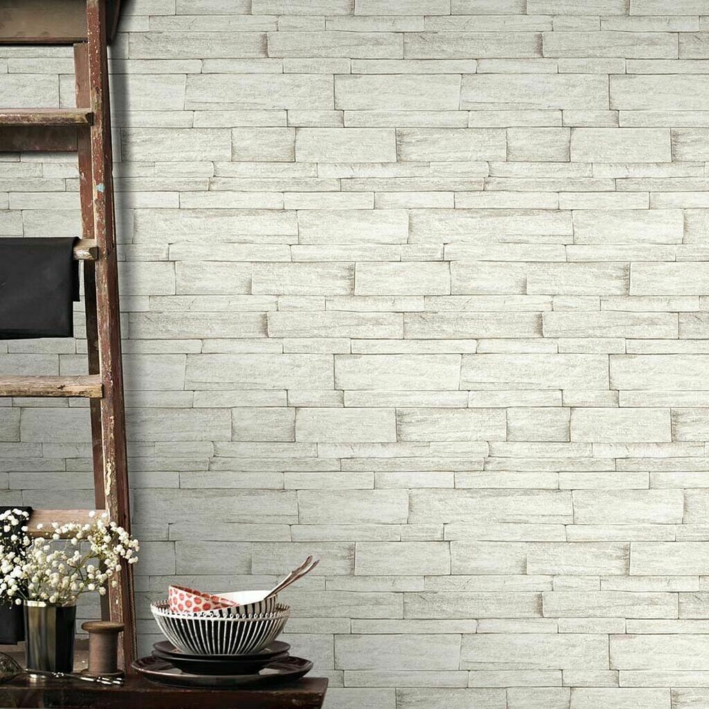 Ledgestone Beige Wallpaper