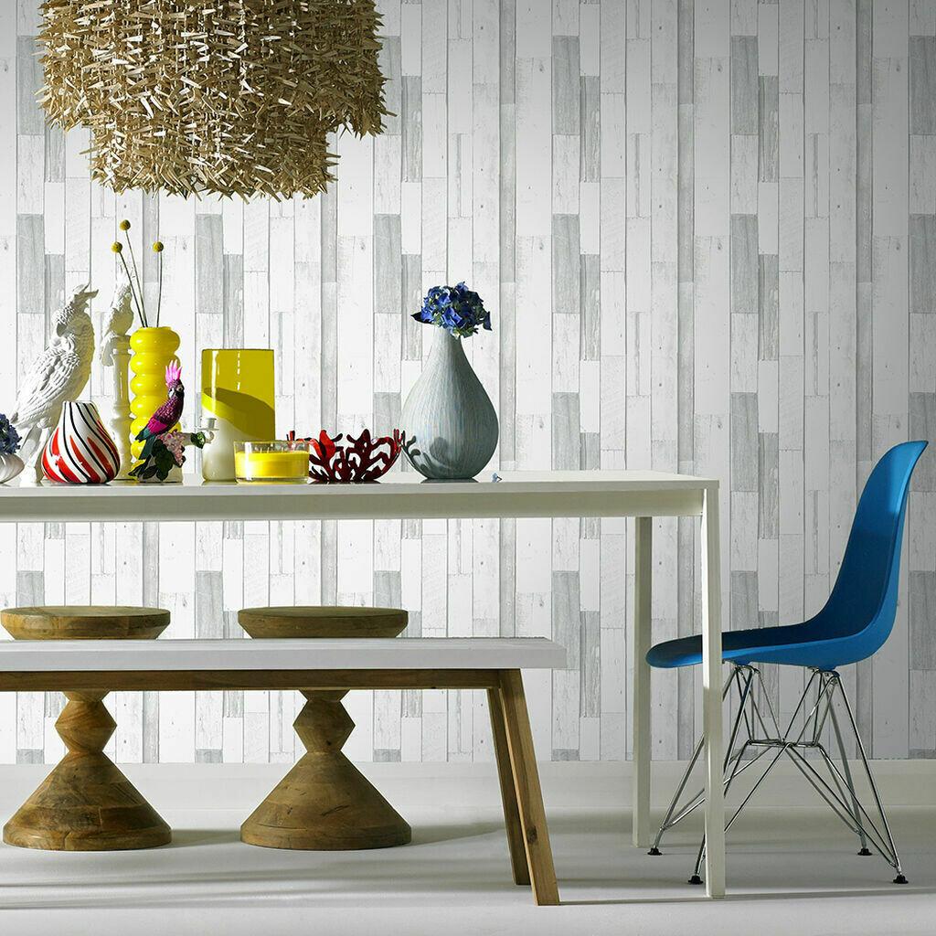 Woody Grey Wallpaper