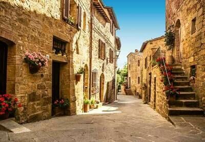 Tuscany Village Wall Mural