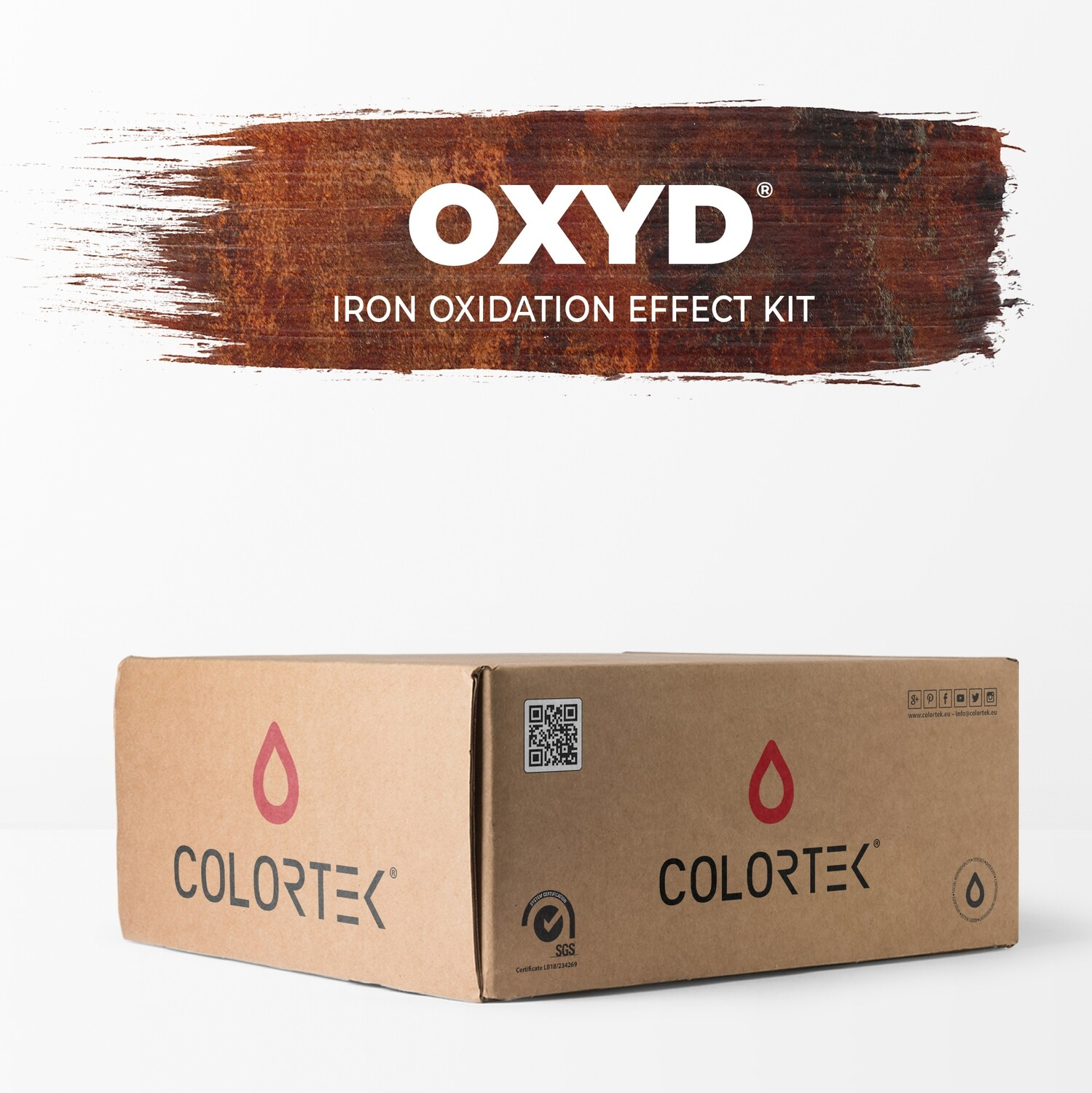 Oxyd - Iron Oxidation Effect Paint Kit for 5 sqm