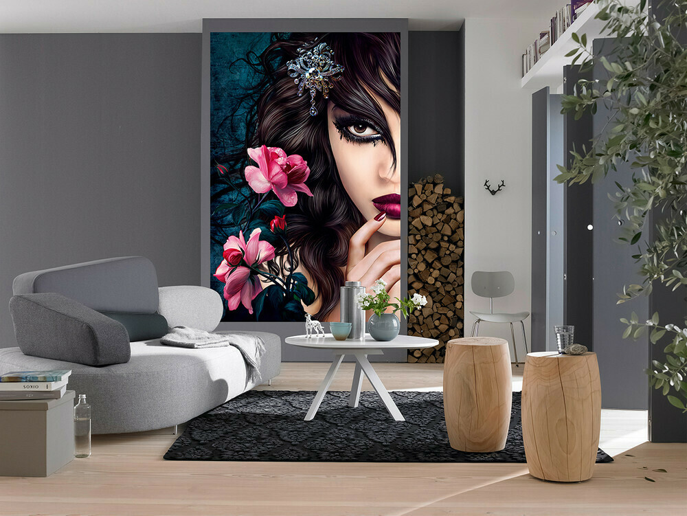 Midnight Rose Wall Mural