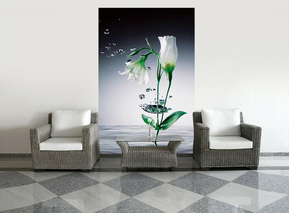 Crystal Flowers Wall Mural