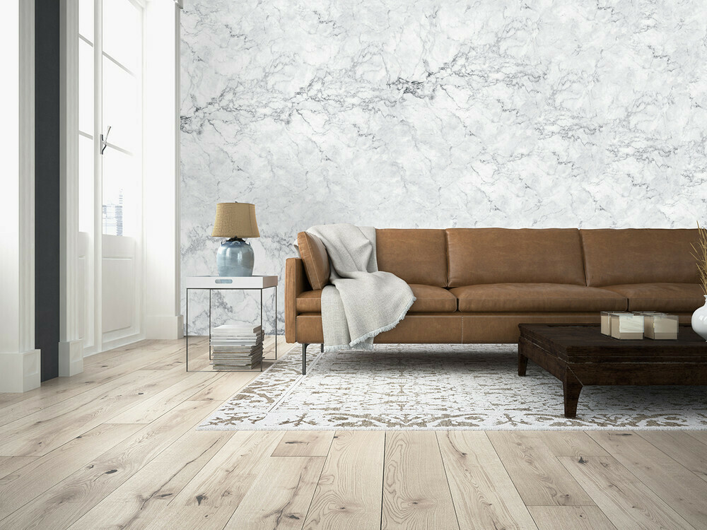 White Marble Wall Mural