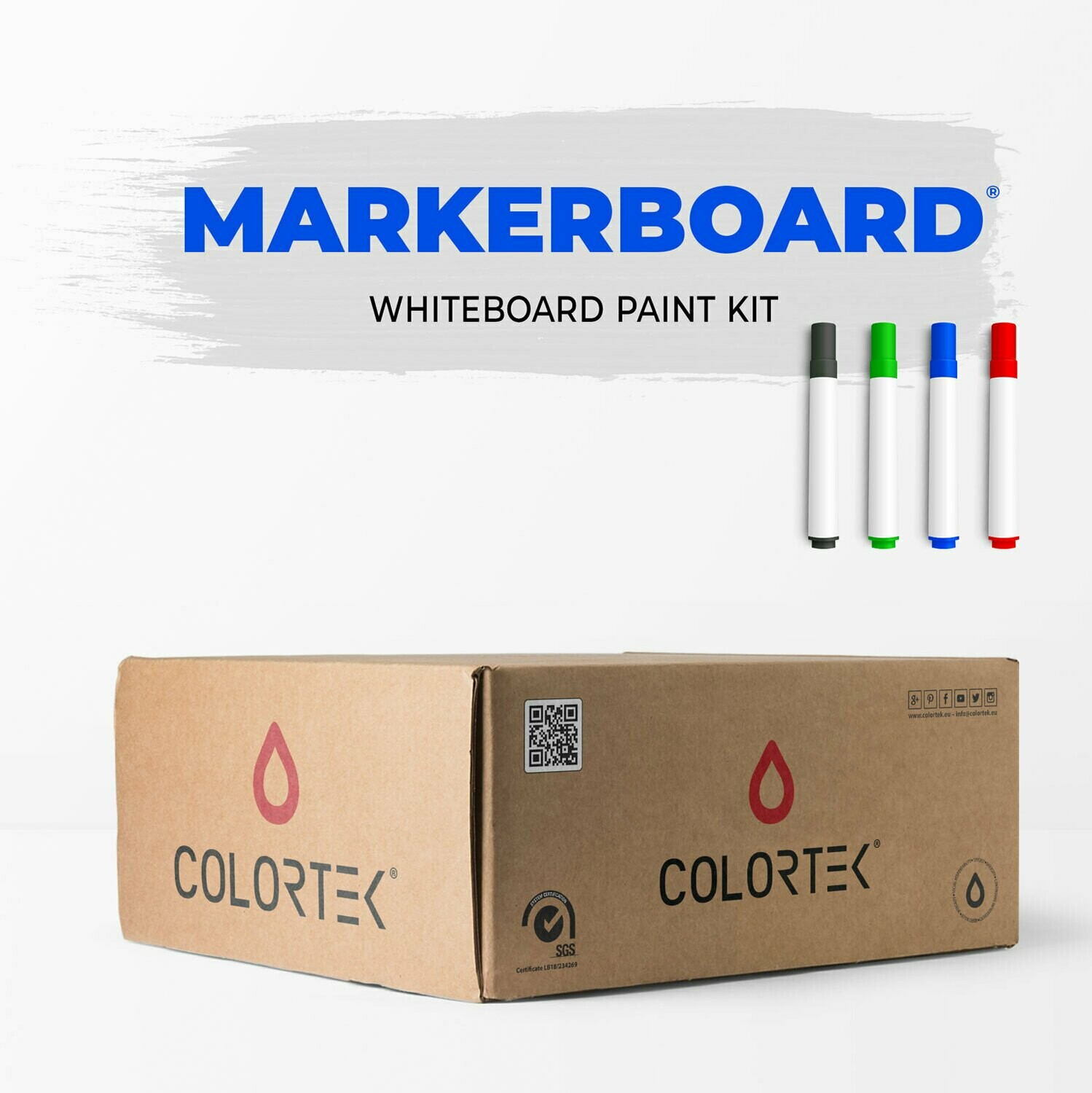 MarkerBoard - WhiteBoard Paint Kit for 4 sqm