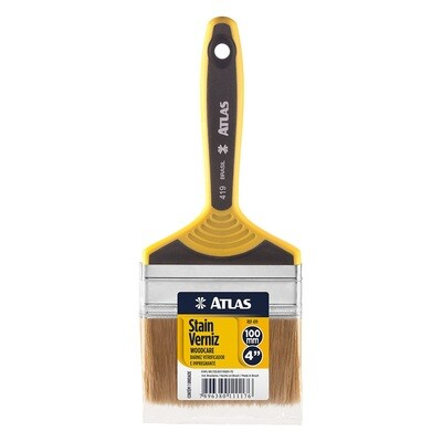 White Bristle, Double Thickness Paint Brush