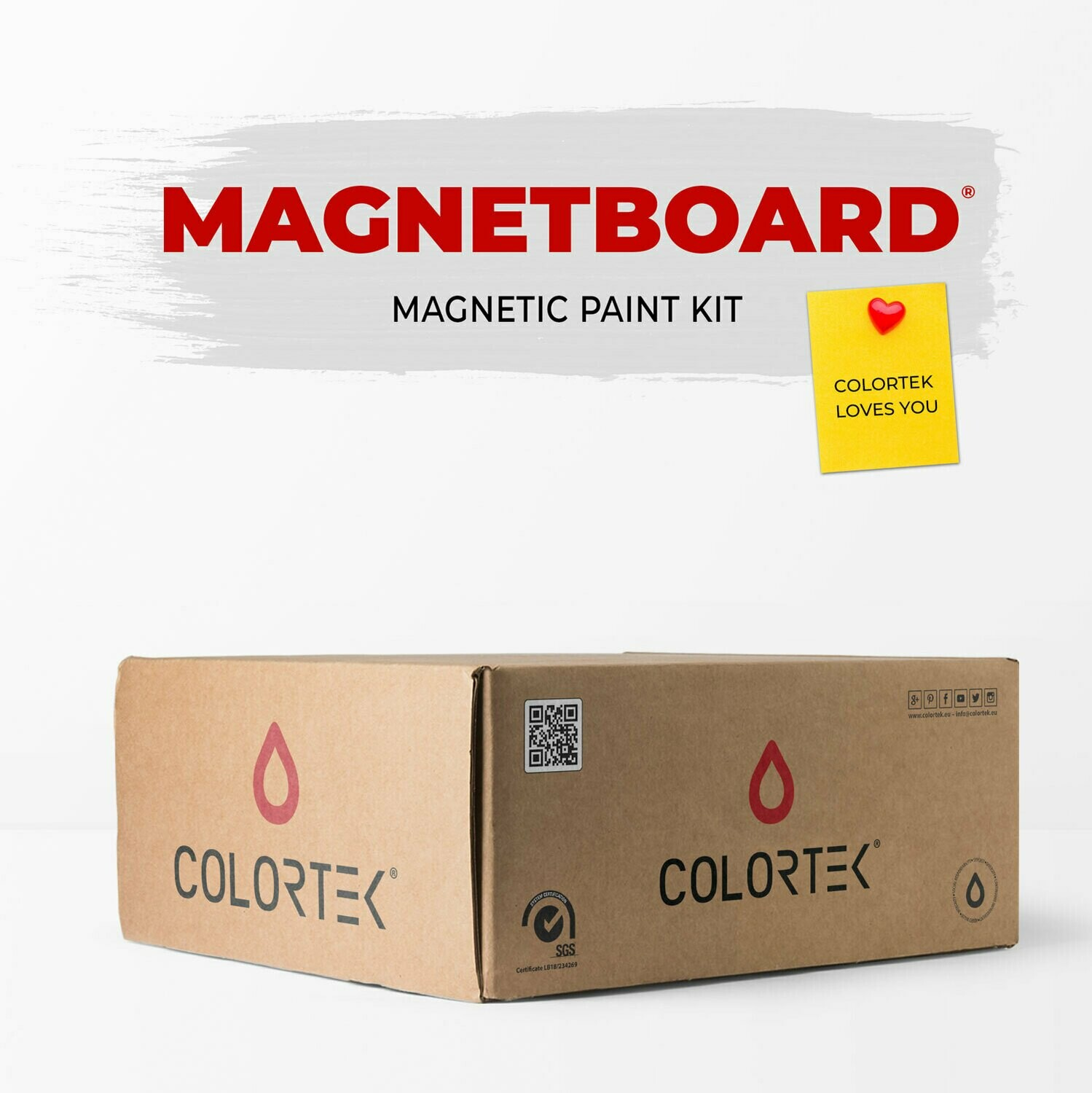 MagnetBoard - Magnetic Paint Kit for 3 sqm