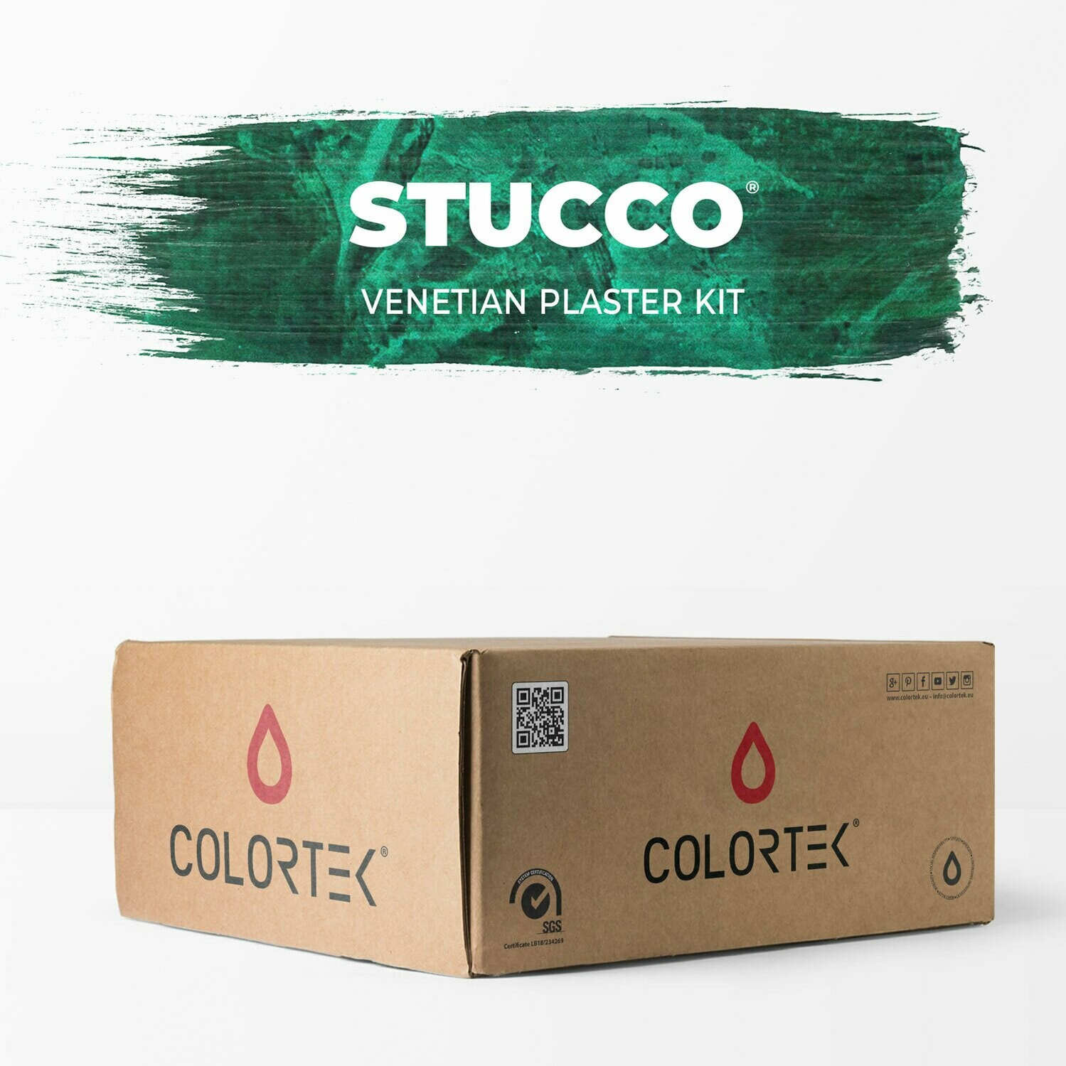 Stucco Venetian Plaster Paint kit for 12 sqm