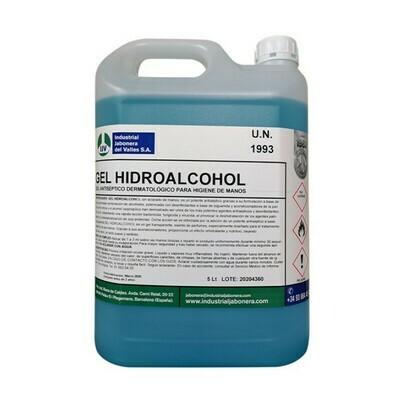 Gel hidroalcoholico , 2 garrafas de 5 litros