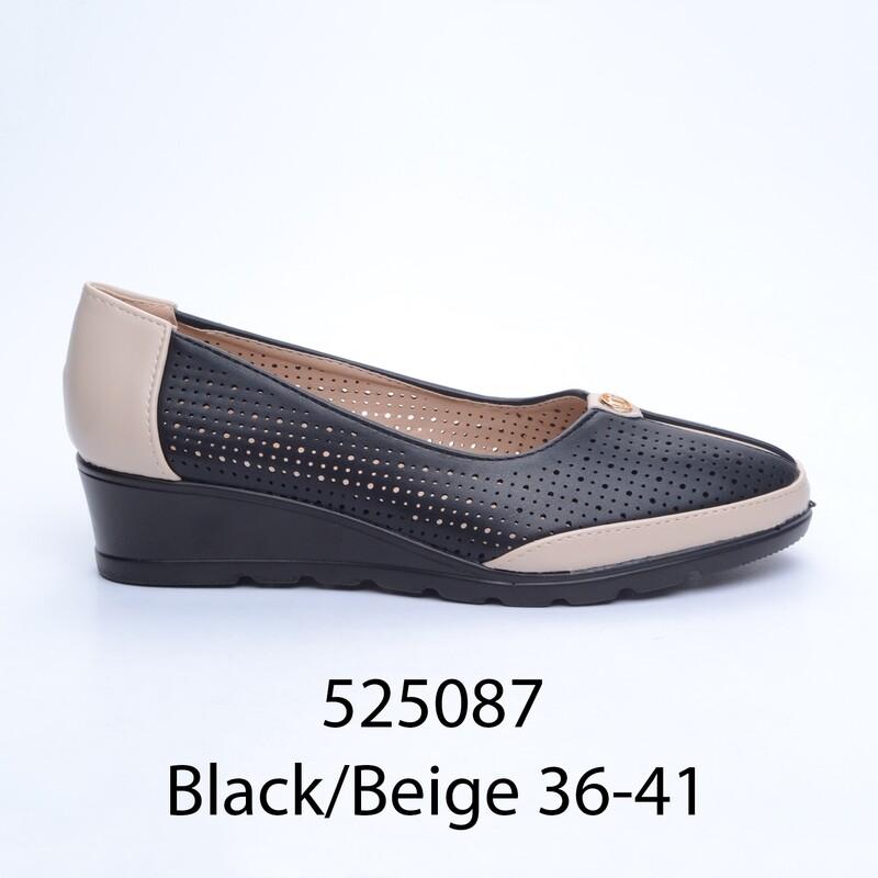 ЧЕВЛИ МОДЕЛ 525087 BLACK/BEIGE 36/41