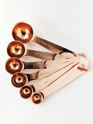 6 delig Luxe Rose gold maatlepel set