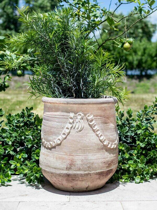 Handmade Tuscan Rope & Tassel Planter