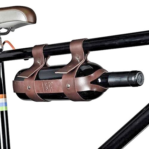 Vegan Leather Bicycle Wine Carrier