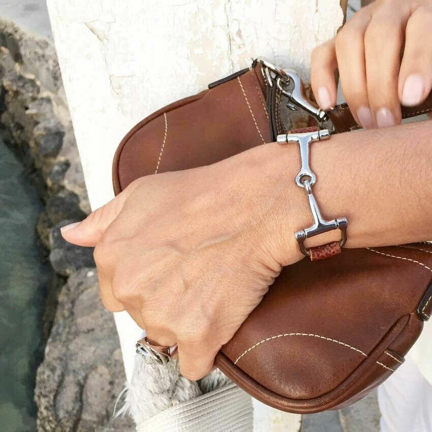 Horse Bit Leather Bracelet
