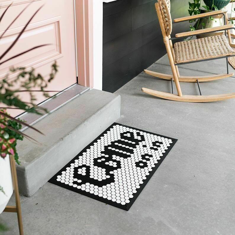 Customizable Tile Mat  Fog/Black or Black/Fog