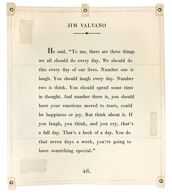 Book Page Wall Tapestry -JIM VALVANO