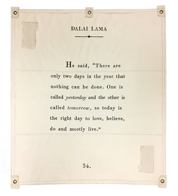 DALAI LAMA BOOK PAGE TARP / TAPESTRY