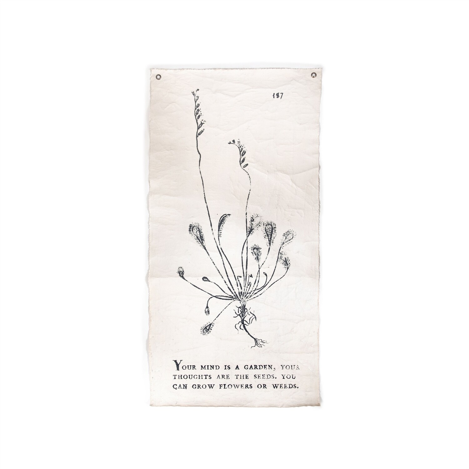 Botanical Book Page Tarp - Mind Is A Garden