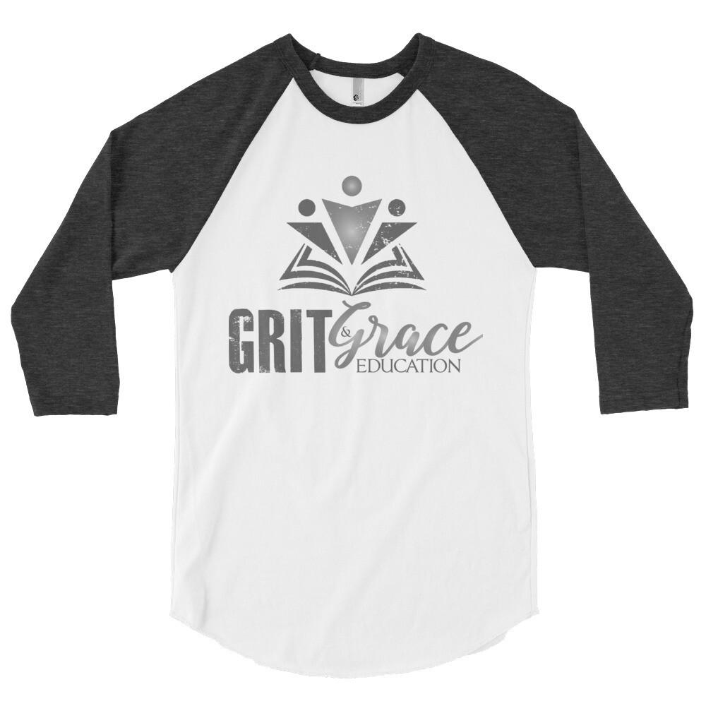 Grit & Grace 3/4 sleeve raglan shirt