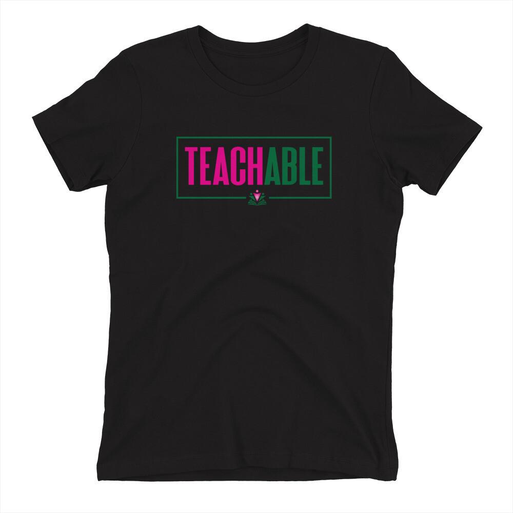 Women's TEACHABLE Round Neck T-shirt