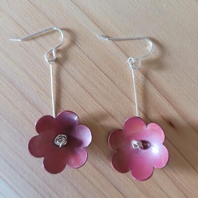 Copper Petal Earrings