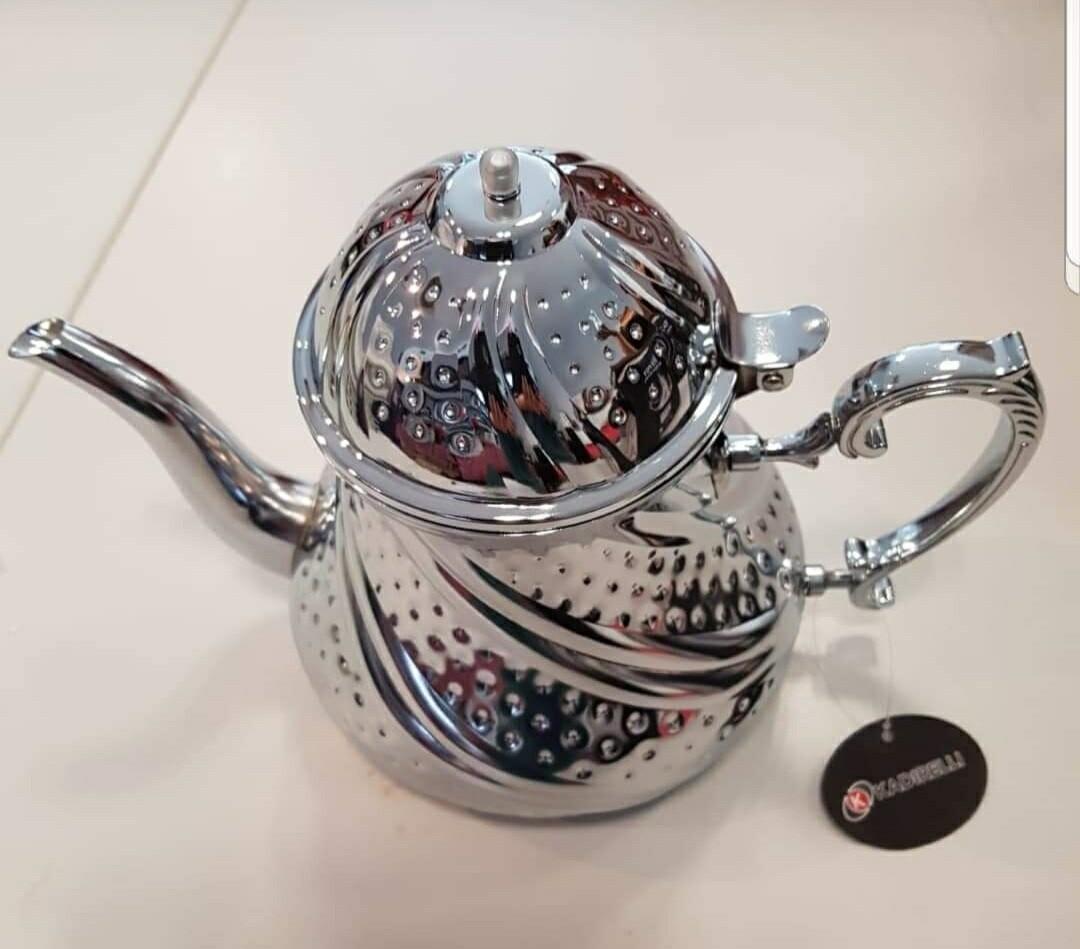 Zilveren theekan