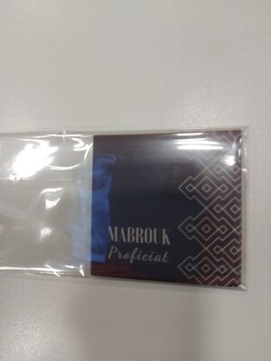 Mini kaartje Mabrouk Proficiat