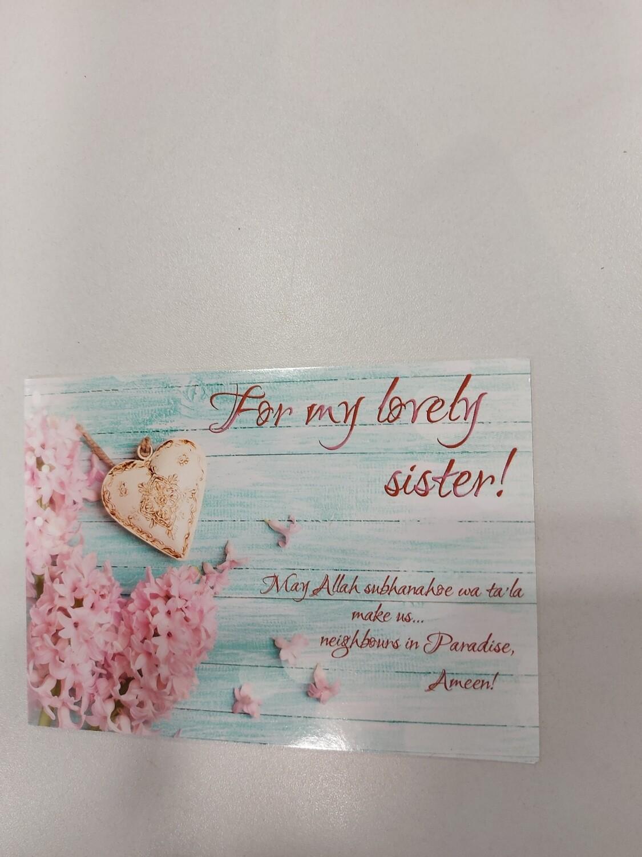 For my lovely sister!