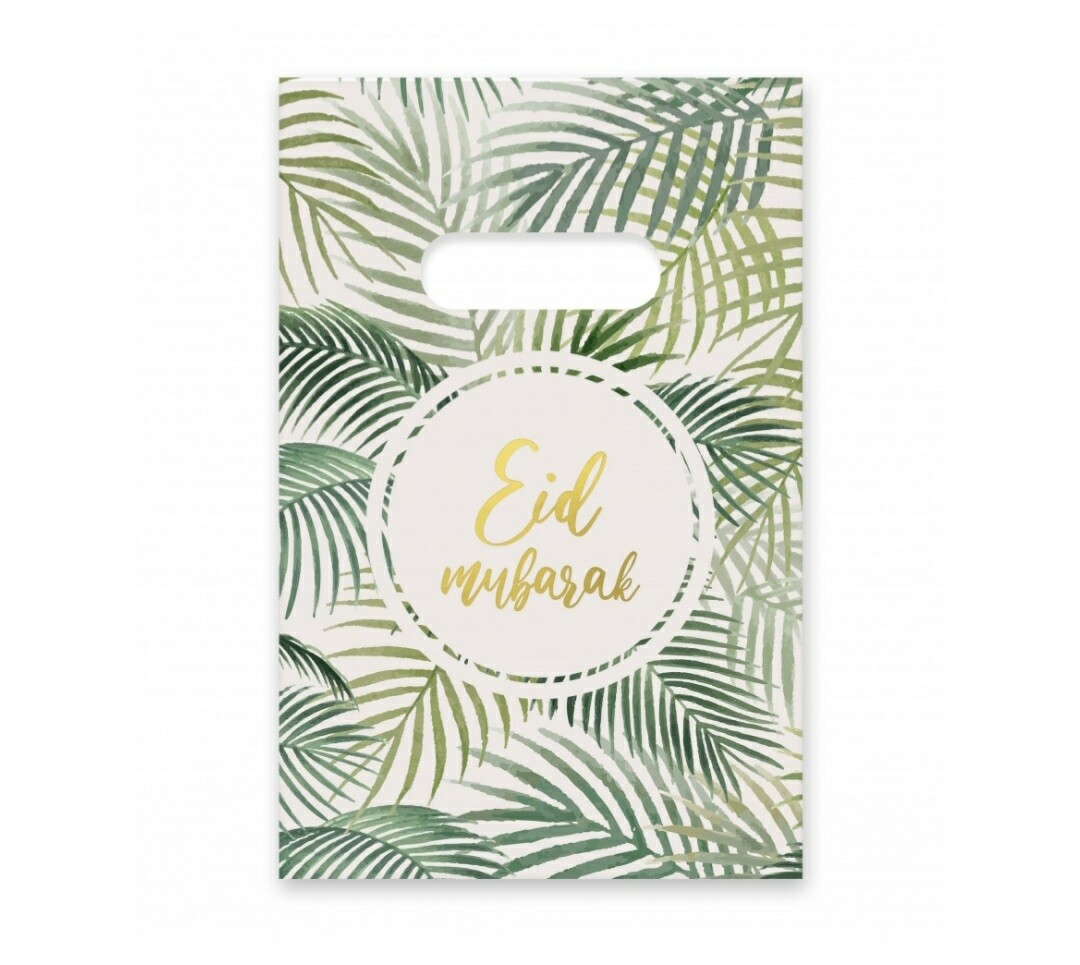 Eid Mubarak snoepzakjes wit en groen