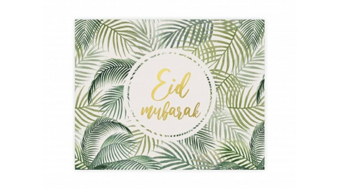 Eid Mubarak placemat wit en groen