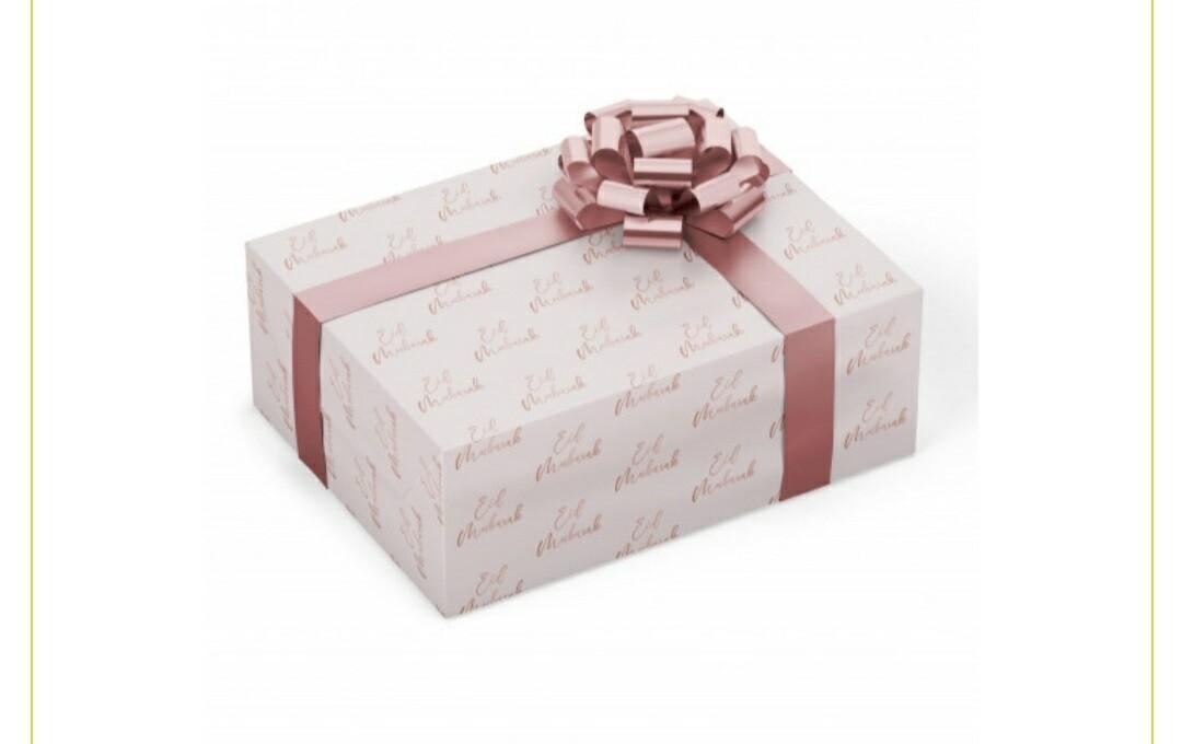 Eid Mubarak cadeaupapier roze gebloemd