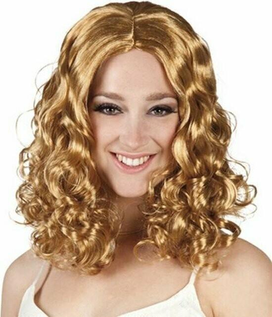 Pruik blond Celeste krullend lang