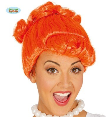 Pruik Wilma Flinstone in oranje