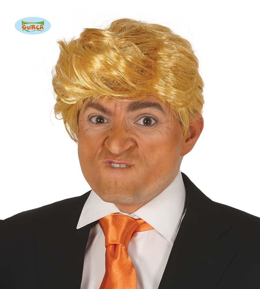 Pruik blond man kort TRUMP