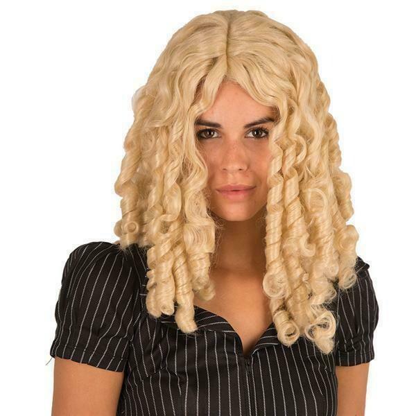 Pruik pijpenkrullen Markiezin Blond
